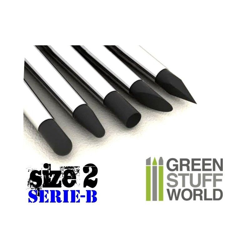 Colour Shapers Brushes, Size 2, Black, Firm, Series B