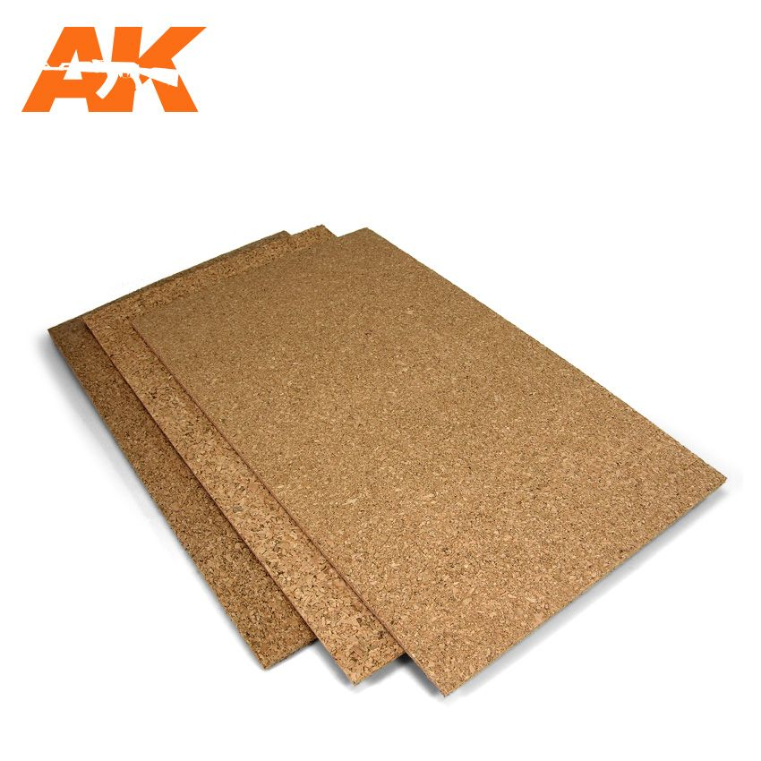 CORK SHEET, FINE GRAINED, 200X300MM, ASSORTED PACK OF 3 - 1MM,2MM,3MM