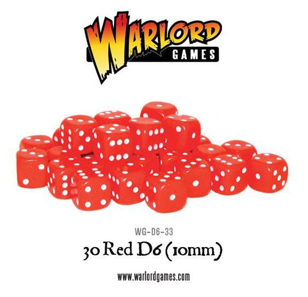 D6 Dice Pack - Red (30)