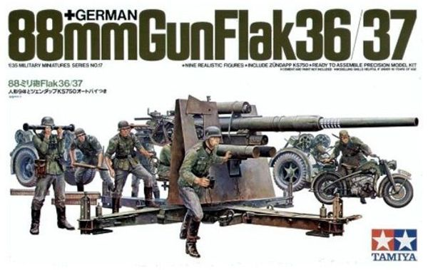 GERMAN 88MM FLAK GUN 36/37 1:35