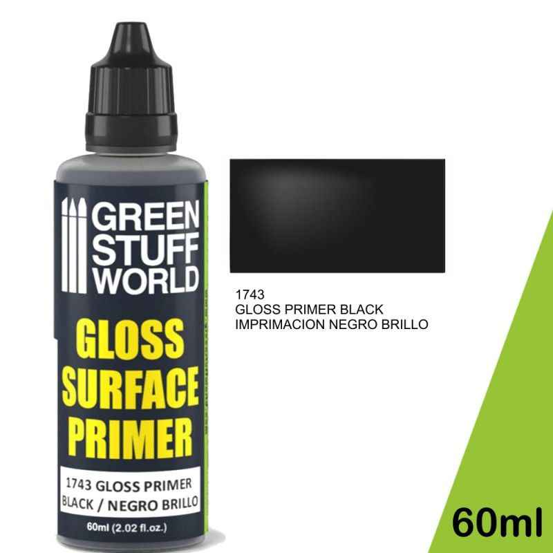 Gloss Surface Primer, Black, 60ml