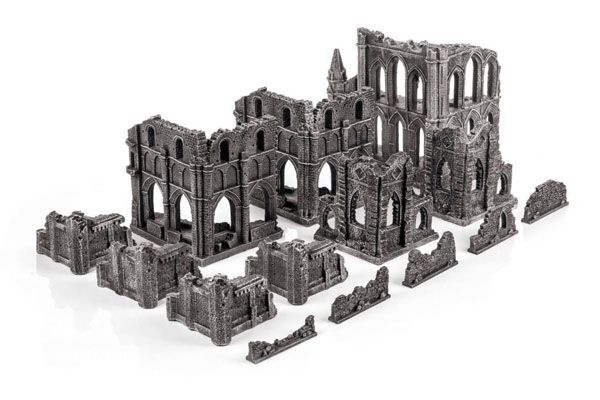 Gothic Ruins Set, Prepainted, Ready-for-gaming