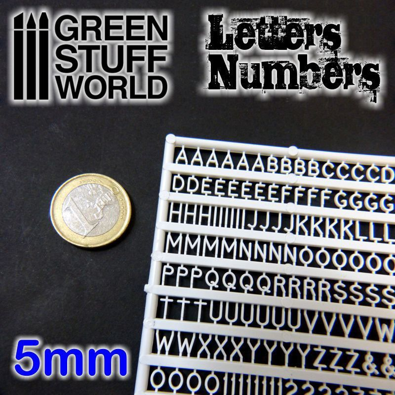 Letters & Numbers, 5mm