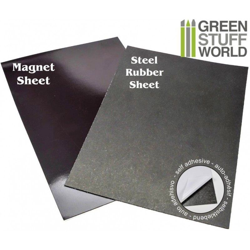 Magnetic Sheet & Rubber Steel Sheet COMBO, A4, Self-adhesive