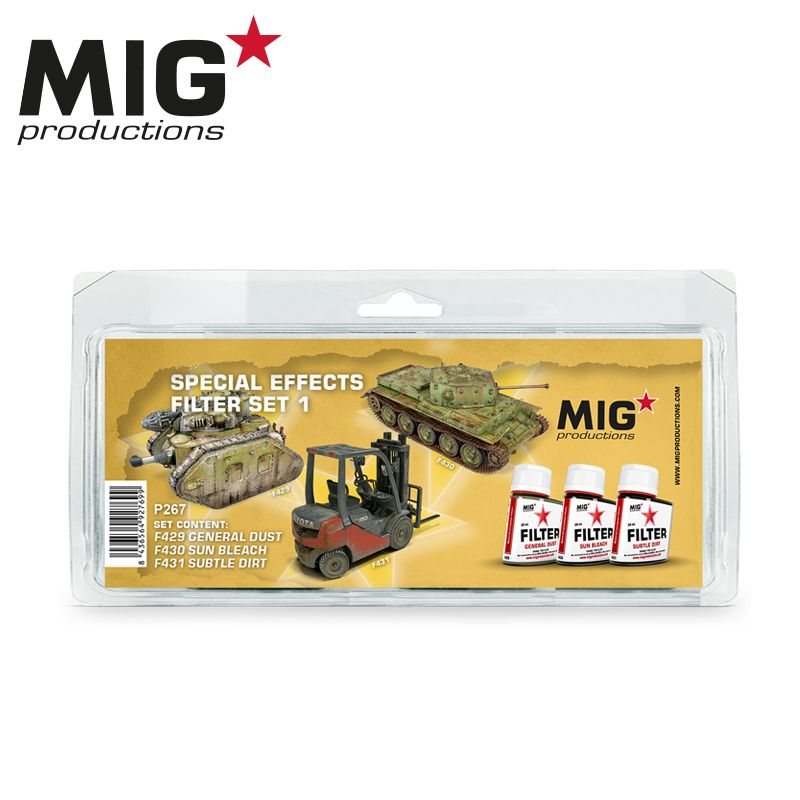 MIG FILTER PAINTS, SPECIAL EFFECTS SET 1, 3x35ML