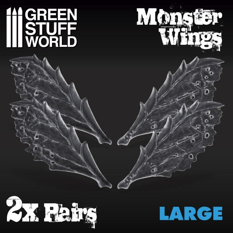 Monster Wings, Resin, Large, 2 Pairs