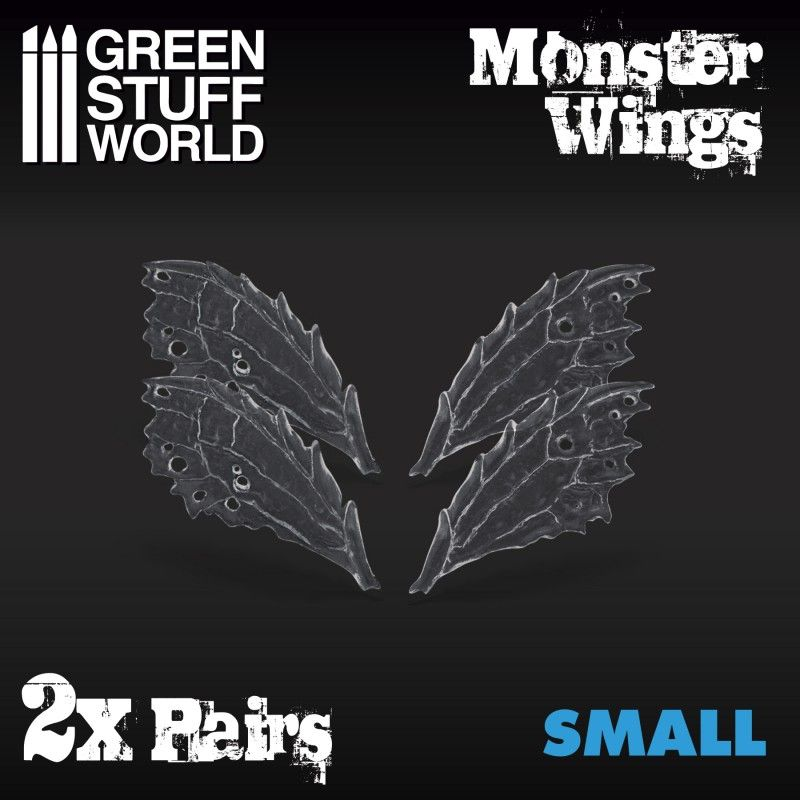 Monster Wings, Resin, Small, 2 Pairs