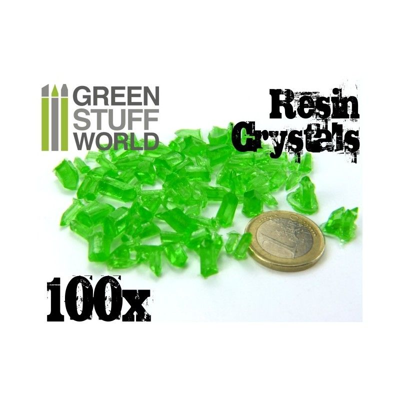 Resin Crystals - Green, 100x