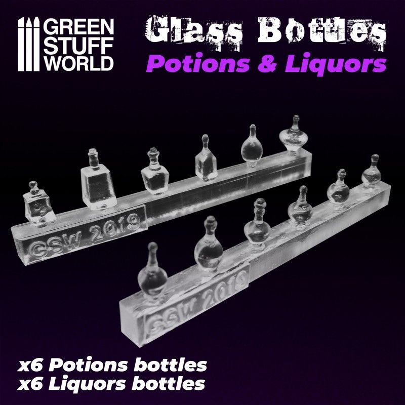 Resin Set - Potions & Liquor Bottles, 12x