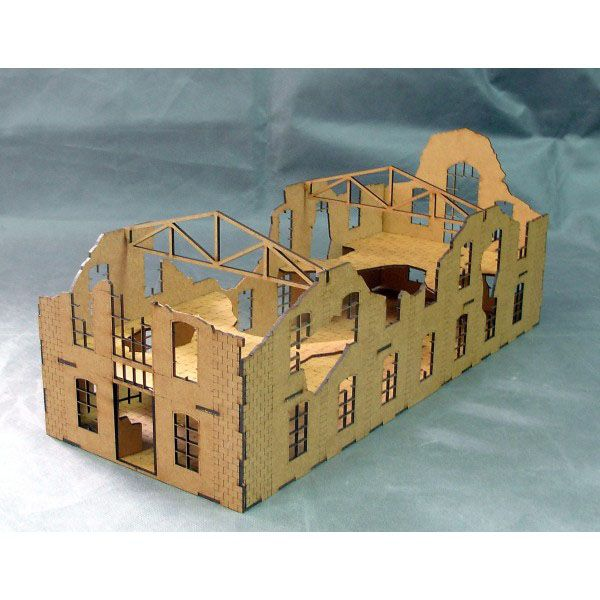 SMALL FACTORY, LASER CUT, UNPAINTED, 28MM