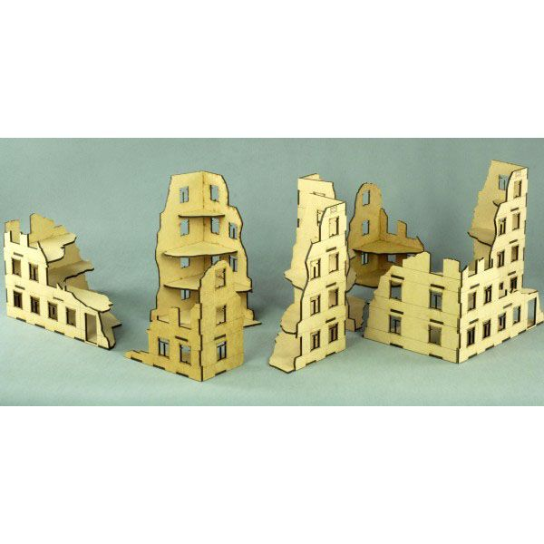 SMALL RUINS SET, LASER CUT, UNPAINTED, 28MM