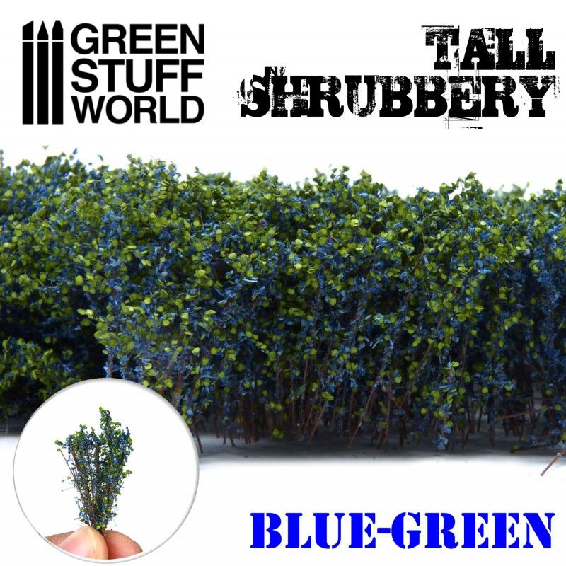 Tall Shrubbery - Blue Green