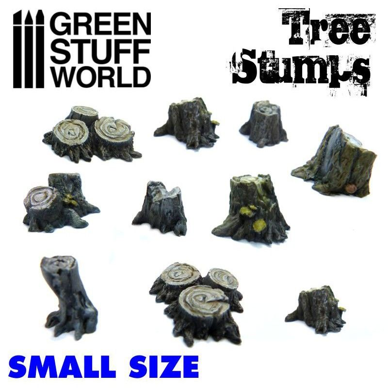 Tree Stumps, Small, Pack of 10