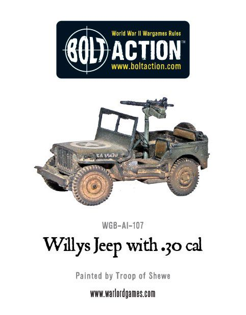 Willy's US Army Jeep with 30 Cal MMG
