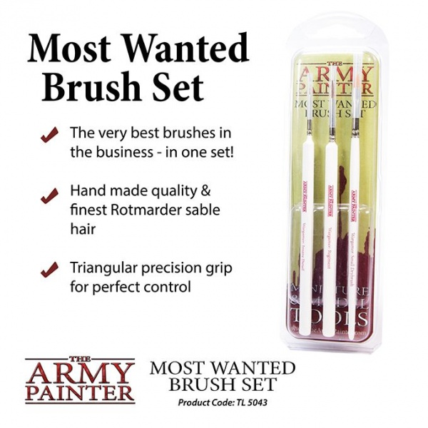 Most Wanted Brush Set, Army Painter