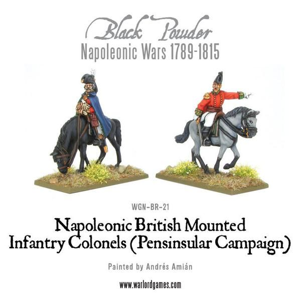 Mounted British Infantry Colonels