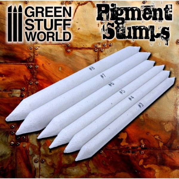 Pigment Blending Stumps, Set of 8