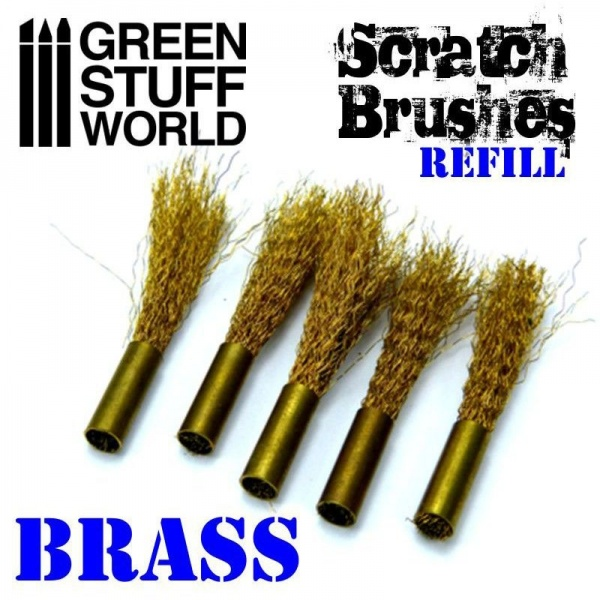 Scratch Brush Set Refill  Brass