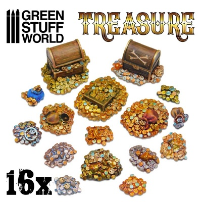 16x Resin Treasure Pieces