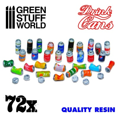 72x Resin Drink Cans