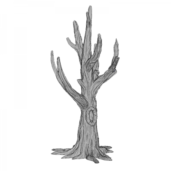 Tree Trunk 1, 155mm, Suitable for 28mm gaming