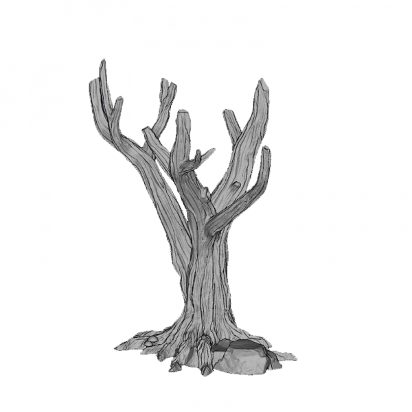 Tree Trunk 3, 140mm, Suitable for 28mm gaming