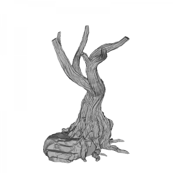 Tree Trunk 4, 130mm, Suitable for 28mm gaming