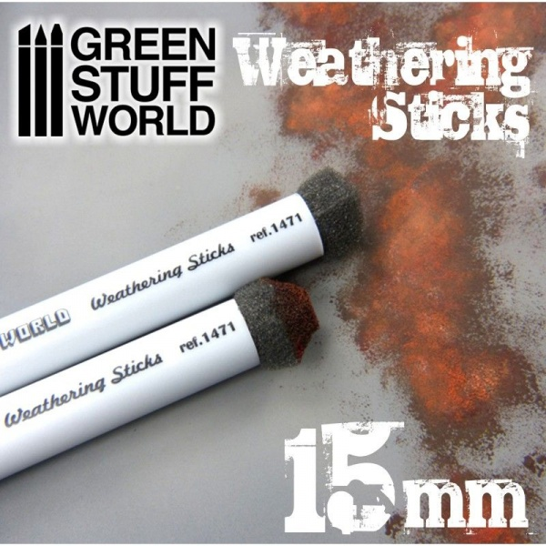 Weathering Brush Sticks, 15mm, Set of 2
