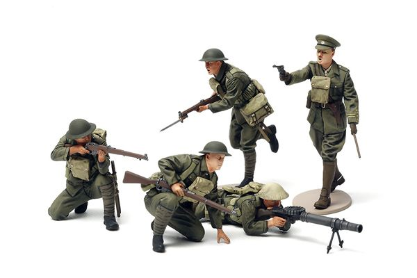 WWI BRITISH INFANTRY SET, 5 FIGS, 1:35